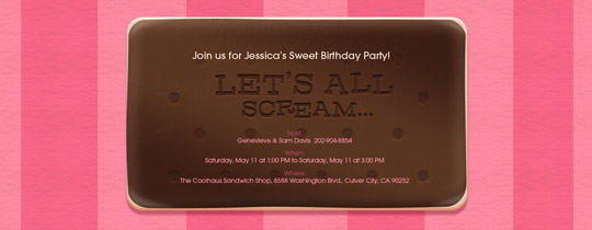 Ice Cream Sandwich Invitation