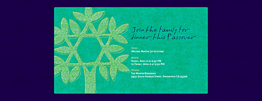 Jewish Tree Invitation