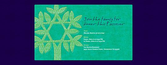 Jewish Tree Invitation