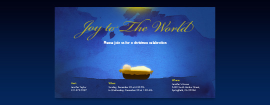 Joy to the World Invitation