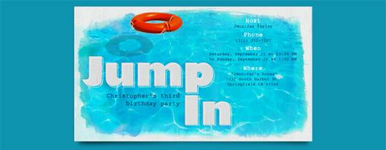 Jump In Invitation