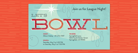 Let's Bowl Invitation
