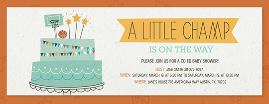 Little Champ Cake Invitation