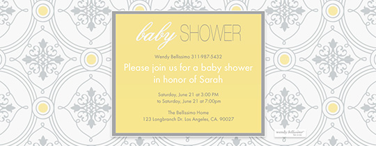 London Baby Invitation