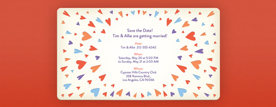 Lots of Hearts Invitation