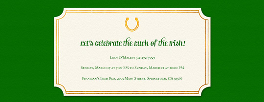 Lucky Horseshoe Invitation