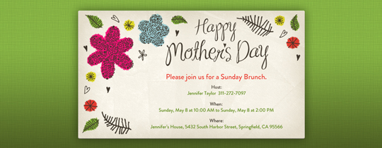Mother S Day Free Online Invitations