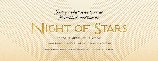 Night of Stars Invitation