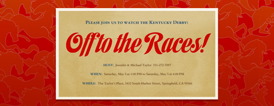 Off to the Races Invitation