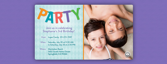 Party Banner Invitation