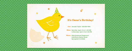 Party Chick Invitation