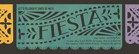 Picado Cinco de Mayo Invitation