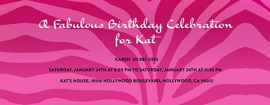 pink, zebra, animal print, chic, birthday celebration, fabulous birthday,