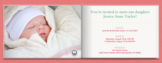 Pink Book Invitation