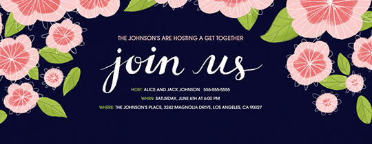 join us, floral, flowers, pink,