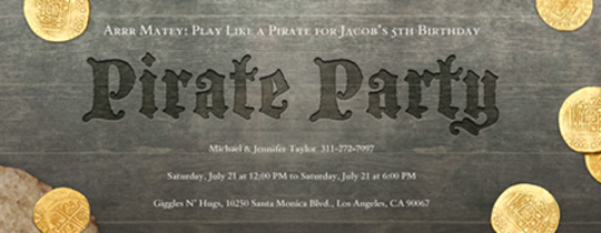 Pirate Loot Invitation