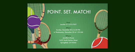 Point. Set. Match. Invitation
