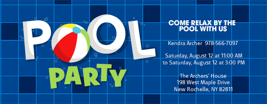 Pool Tiles Invitation