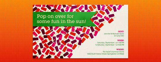 Popsicle Fun Invitation