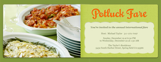 Potluck Fare Invitation