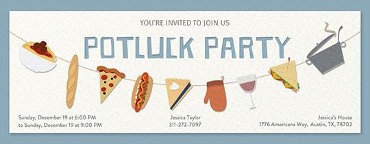 Potluck online invitations | Evite.com