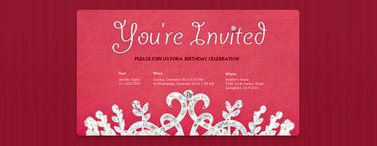 bday, birthday, crown, crystal, diamond, girl, kids, party, princess, red, tiara, you're invited