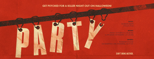 Psycho Party Invitation