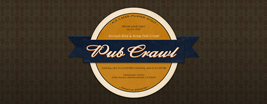 Pub Crawl Coaster Invitation
