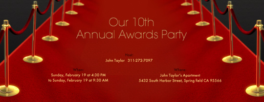 Awards Party Free Online Invitations