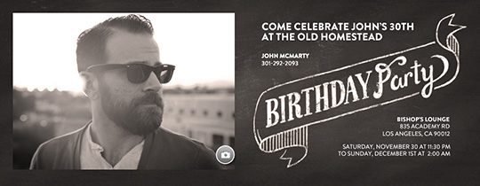 Birthday for Him free online invitations – Male 30th Birthday Invitations