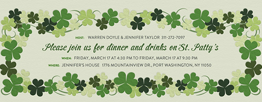 Shamrock Green Invitation