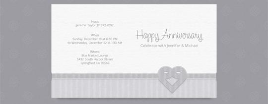 Silver Anniversary Invitation
