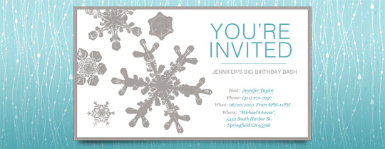 Christmas Potluck Invite with beautiful invitations example