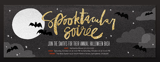Spooktackular Soiree Invitation