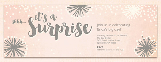 Surprise Birthday Blush Invitation
