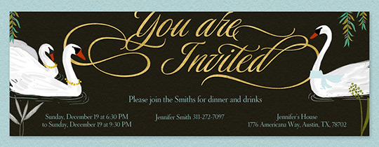 Swans Invitation