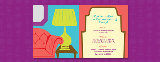 Table Lamp Invitation