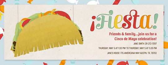 Taco Pinata Invitation