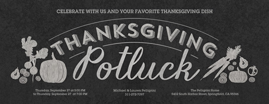 Thanksgiving Dish Invitation