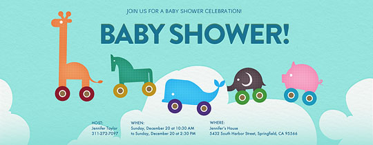 baby, baby shower, baby toys, clouds, elephant, giraffe, horse, pig, toy, toys, whale, animal, animals,