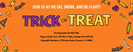 Tricks and Treats Invitation