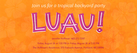 luau, tropical, backyard, summer, outdoor, hawaiian, hawaii, orange, house party, flowers,