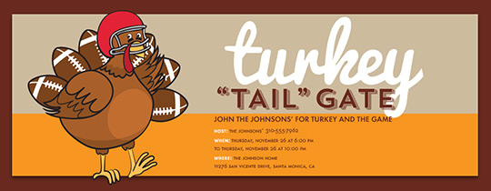 Turkey Tailgate Invitation