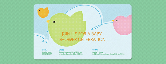 baby, baby shower, bird, birdies, birds, cloud, sky, tweet, twins, twin,