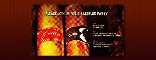 Two Cigars Invitation
