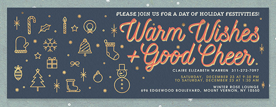 Warm Wishes Good Cheer Invitation