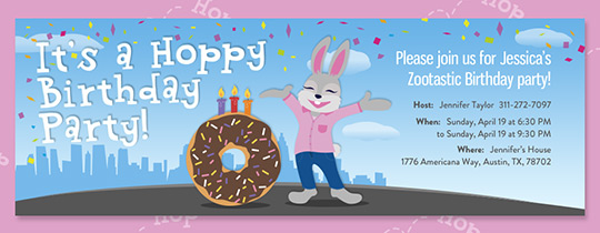 Zoo Hoppy Birthday Invitation