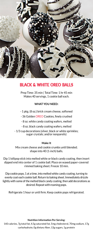 Black and White Oreo Balls