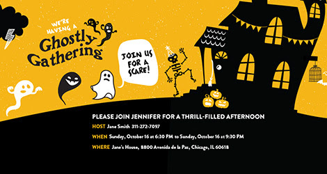 Ghostly Gathering Invitation