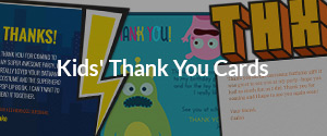 Kids' Thank You Cards